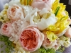 Yellow and Peach - peonies, garden roses and French tulips, for a William Paca House wedding