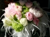 Glamour - Spring bouquet with peonies, feathers and ranunculus for an Annapolis Yacht Club wedding