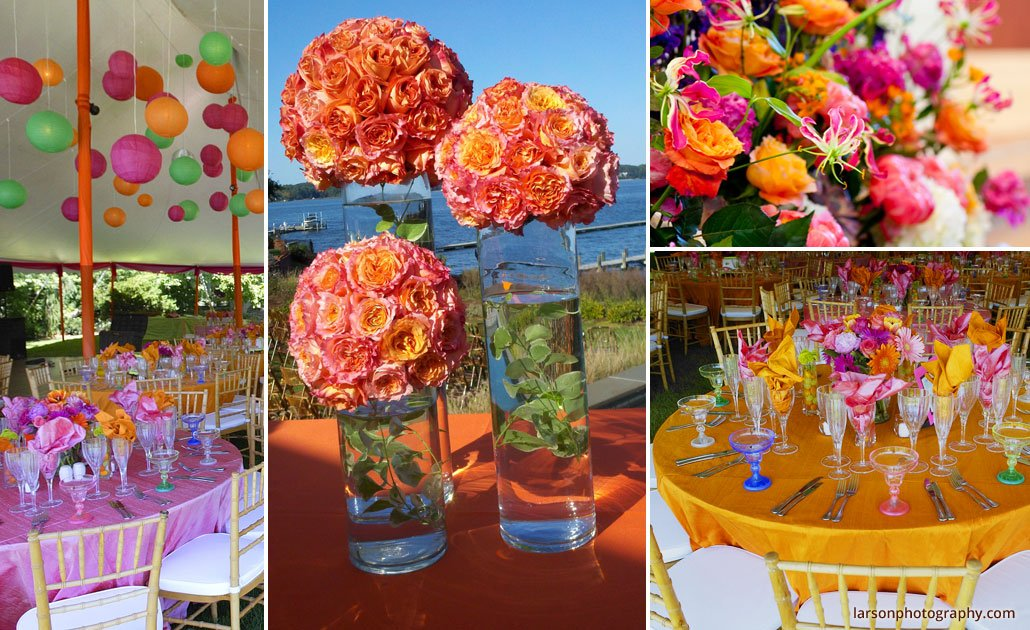 Silverstems Orange Crush Wedding Theme Sun Star Orange Flower